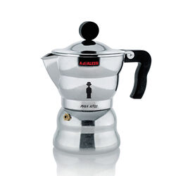 Alessi Moka Pot by Mendini Stovetop Espresso Maker side view