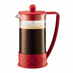 Bodum Brazil French Press Red Coffee Maker front view