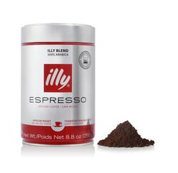 Decaffeinated Ground Espresso Coffee 8.8 oz Can Front View