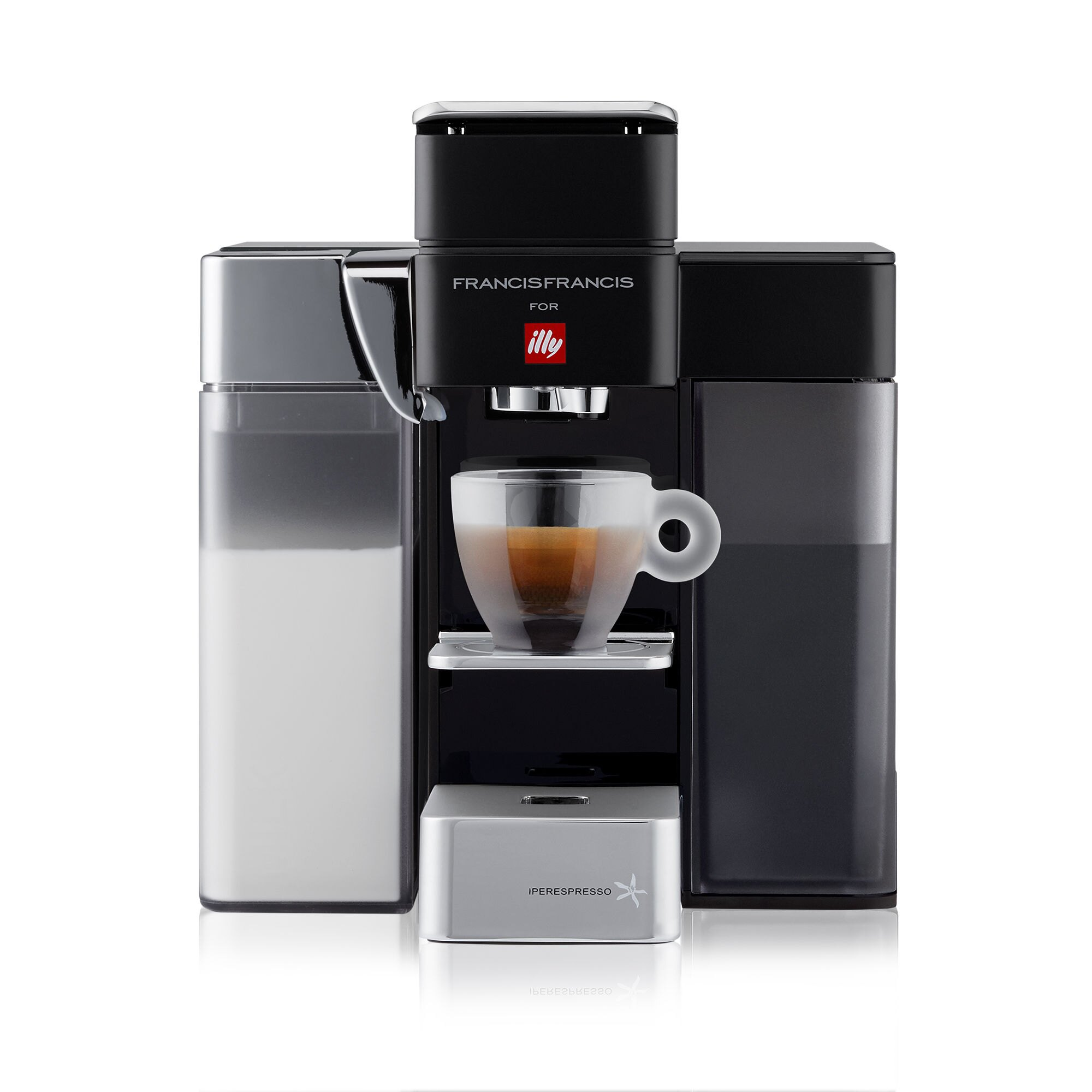 francis francis y5 milk espresso coffee machine illy. Black Bedroom Furniture Sets. Home Design Ideas