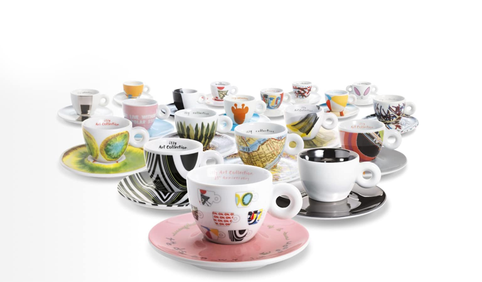 illy art collection espresso cups over the years