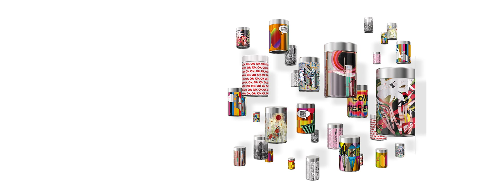 illy art collection barattoli
