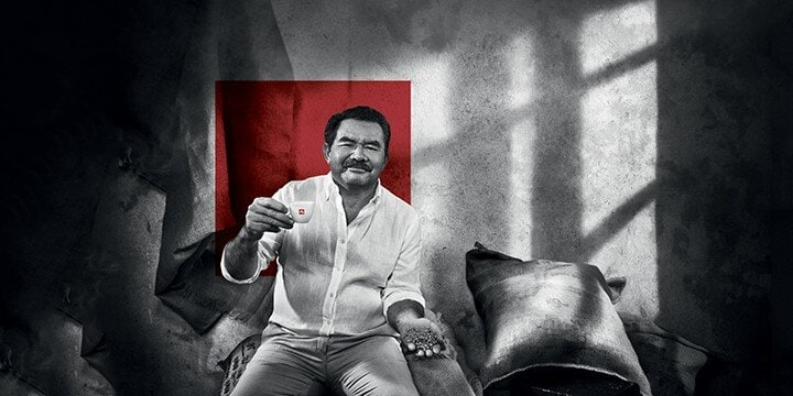 Jose Diaz Enamorado drinks illy