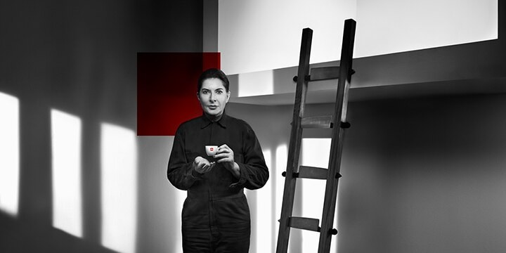 Marina Abramovic drinks illy
