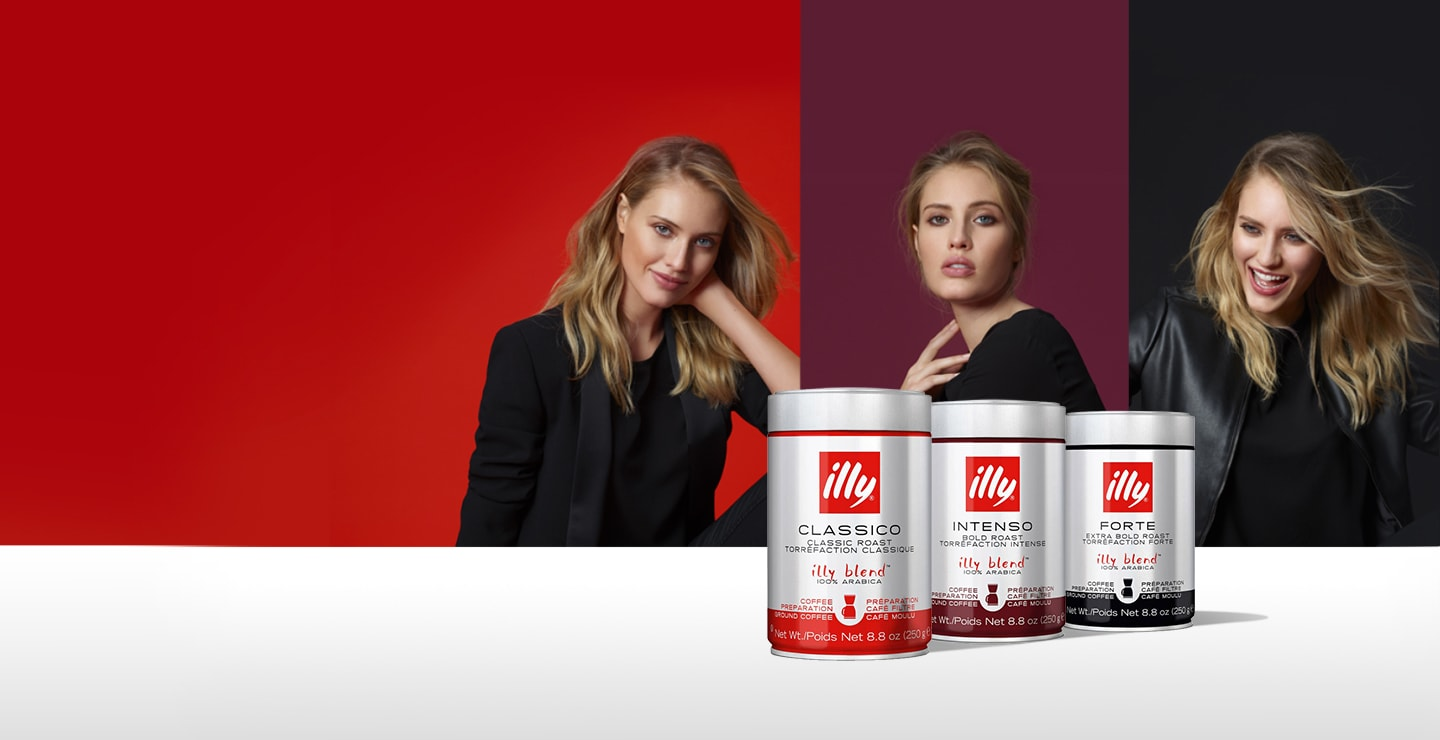 Selection of Ground Coffee - illy Range