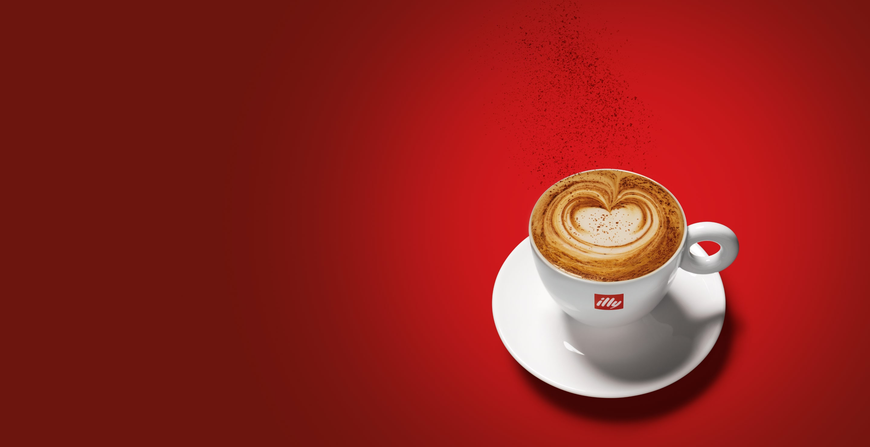 illy cappuccino in logo cup