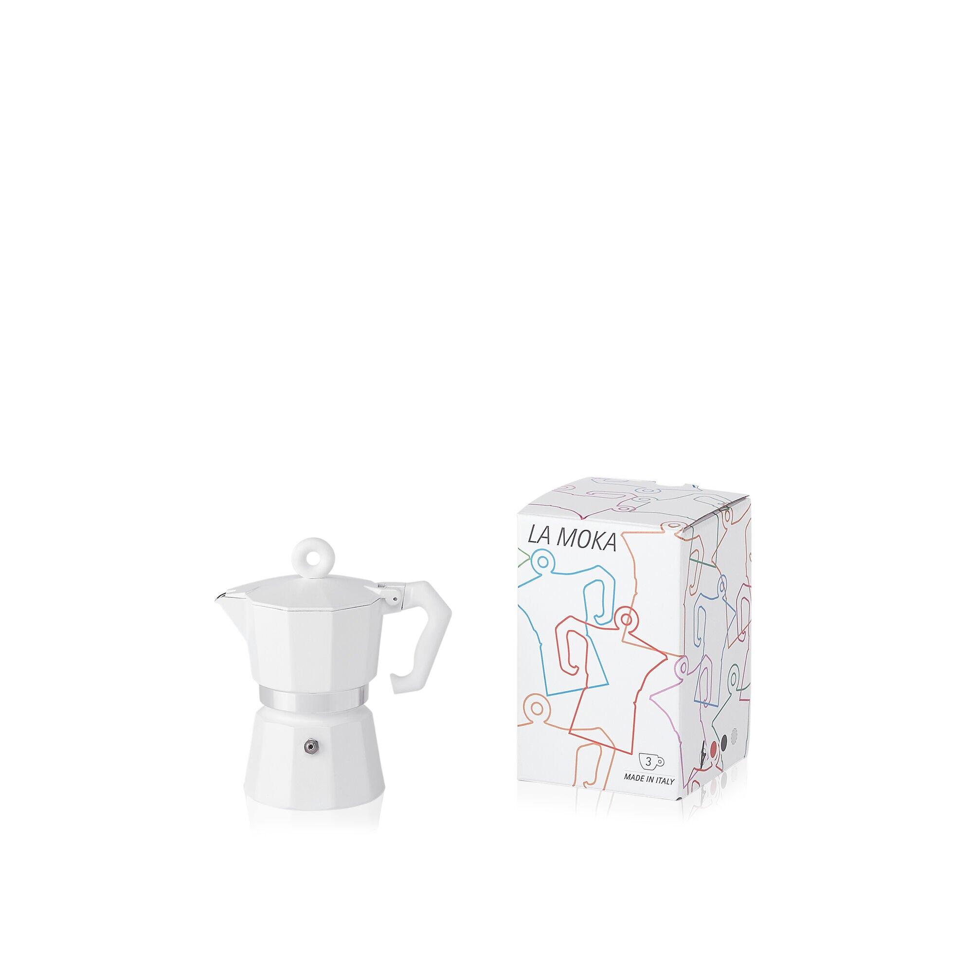 Moka bianca - Caffettiera da 1 tazza