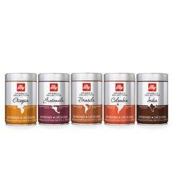 5 barattoli di caffè in grani: Arabica selection