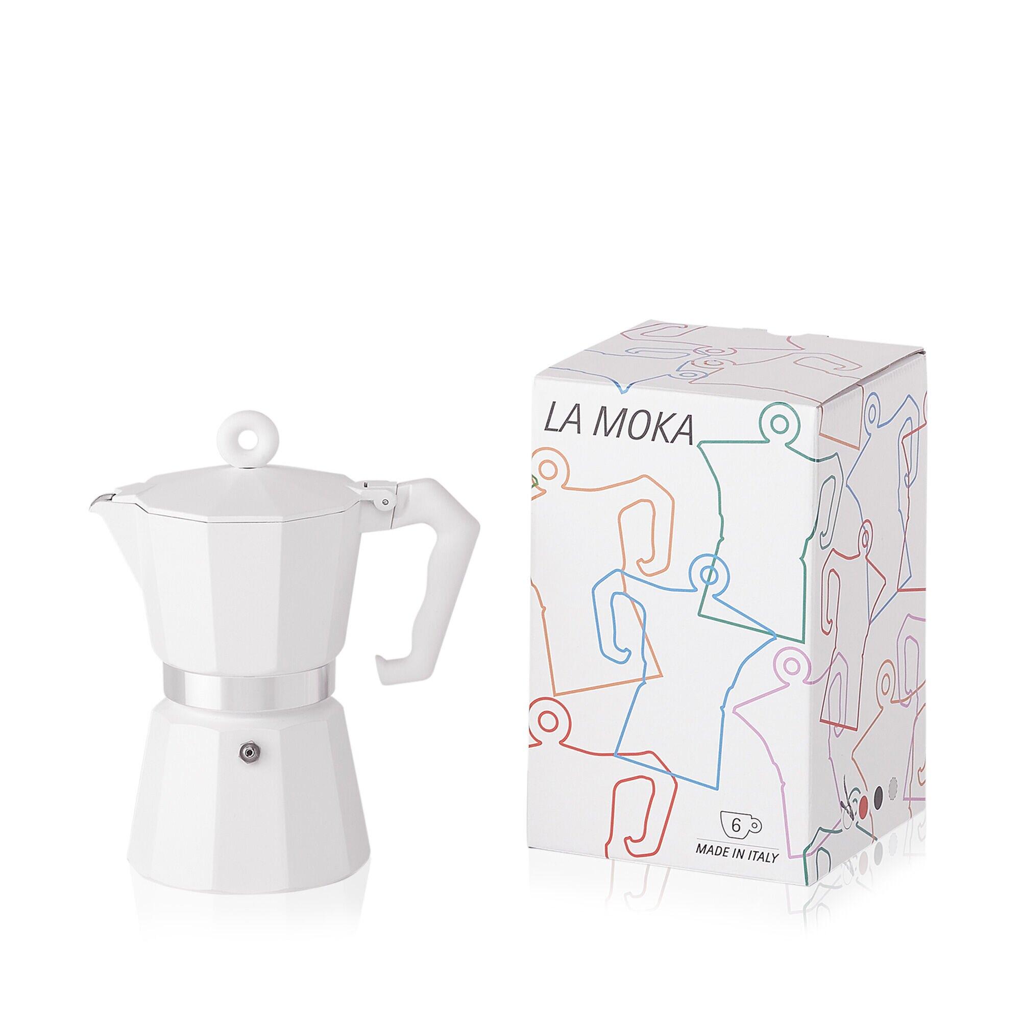 Caffettiera da 6 tazze - Moka bianca Alison