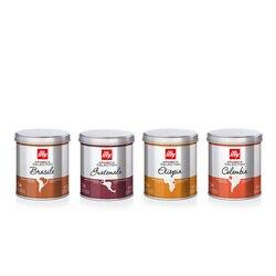 4 barattoli di caffè macinato: Arabica selection