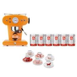 -10% Espressomaschine X1 Orange für gemahlenen Kaffee mit kostenlosem Startpaket