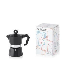 La Moka Black 3 Cup Moka Pot