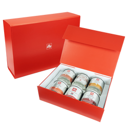 illy Origins of Taste iperEspresso 6-Tin Gift Set front view
