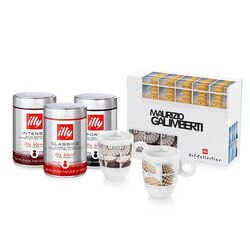 illy Beauty in a Cup Drip Coffee Bundle Front View