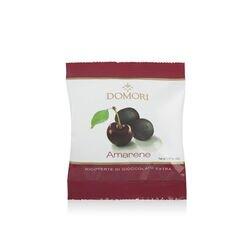 Dragée di amarene ricoperti di cacao fondente Domori da 40gr