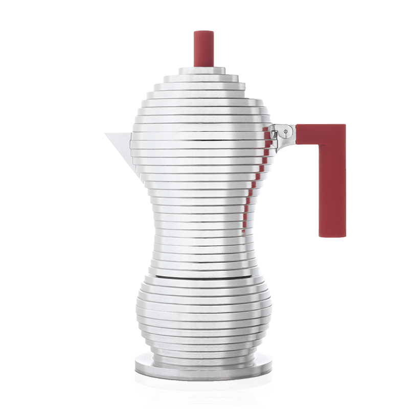 Alessi Pulcina 6 Cup Moka Pot - Red