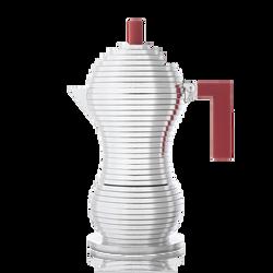 Moka roja Alessi Pulcina para inducción de 6 tazas