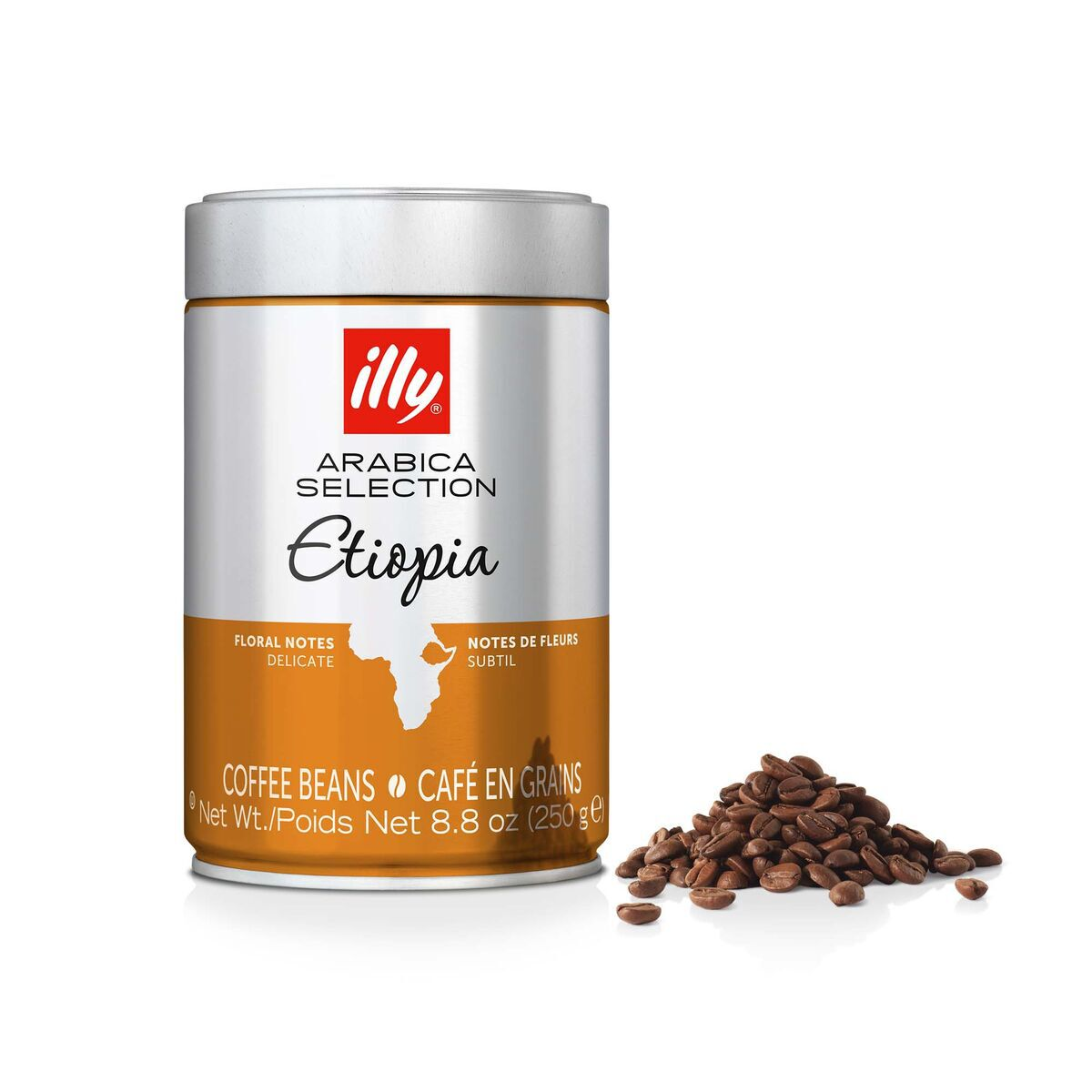 Whole Bean - Arabica Selection Etiopia - 8.8oz Can - illy