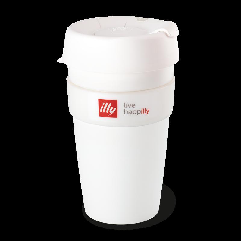 Kaffeebecher Travel Mug Keepcup Live Happilly 450ml Weiß