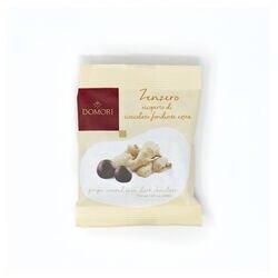 Dragée di zenzero ricoperte di cioccolato fondente Domori da 40gr