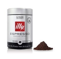 Dark Roast Ground Espresso Coffee 8.8 oz Can Front View