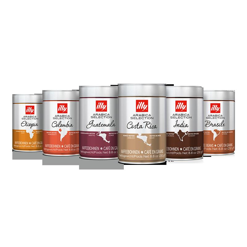 Kit degustazione caffè - 6 confezioni caffè in grani Arabica Selection