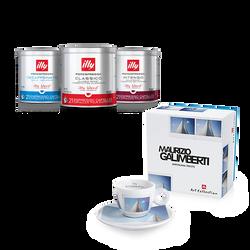 Kit de 6 latas de café Iperespresso en cápsulas y 1 taza de café illy Art Collection Maurizio Galimberti
