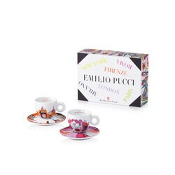 Emilio Pucci Cup Collection - Set of 2 Cappuccino Cups