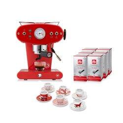 -10% Espressomaschine X1 Trio für E.S.E. Pads Rot mit kostenlosem Startpaket