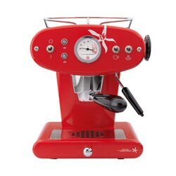 Francis Francis X1 Red Espresso Cappuccino Machine front view