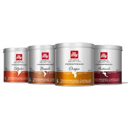 Arabica Selection Origins of Taste iperEspresso 4-Tin Bundle Front View