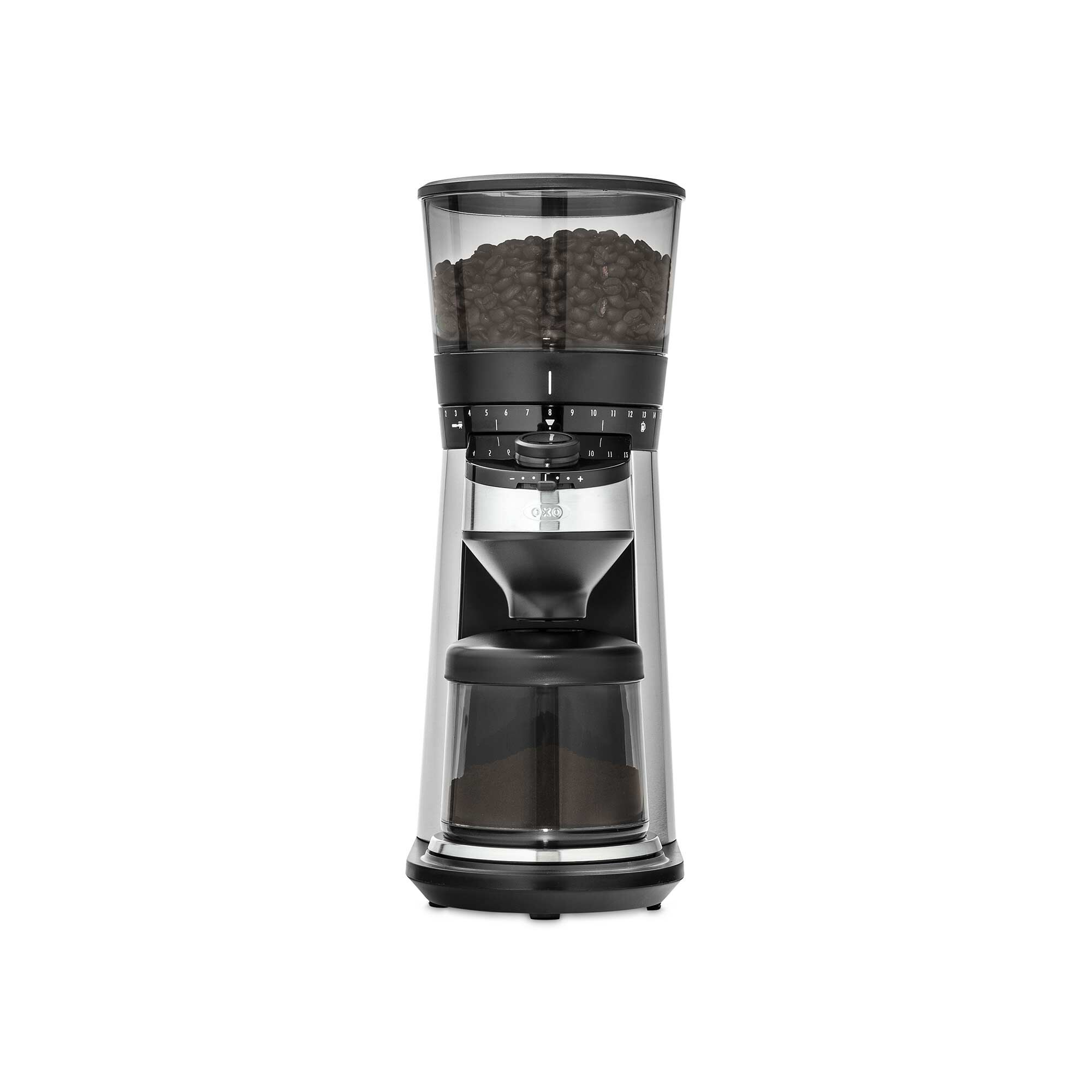 OXO Conical Burr Coffee Grinder front view