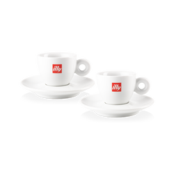 2 tasses à espresso avec logo illy