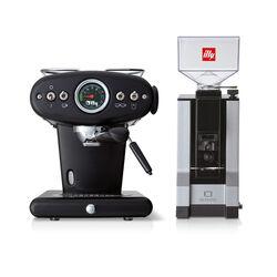 Koffiemachine voor E.S.E pads en gemalen koffie met bonenmaler