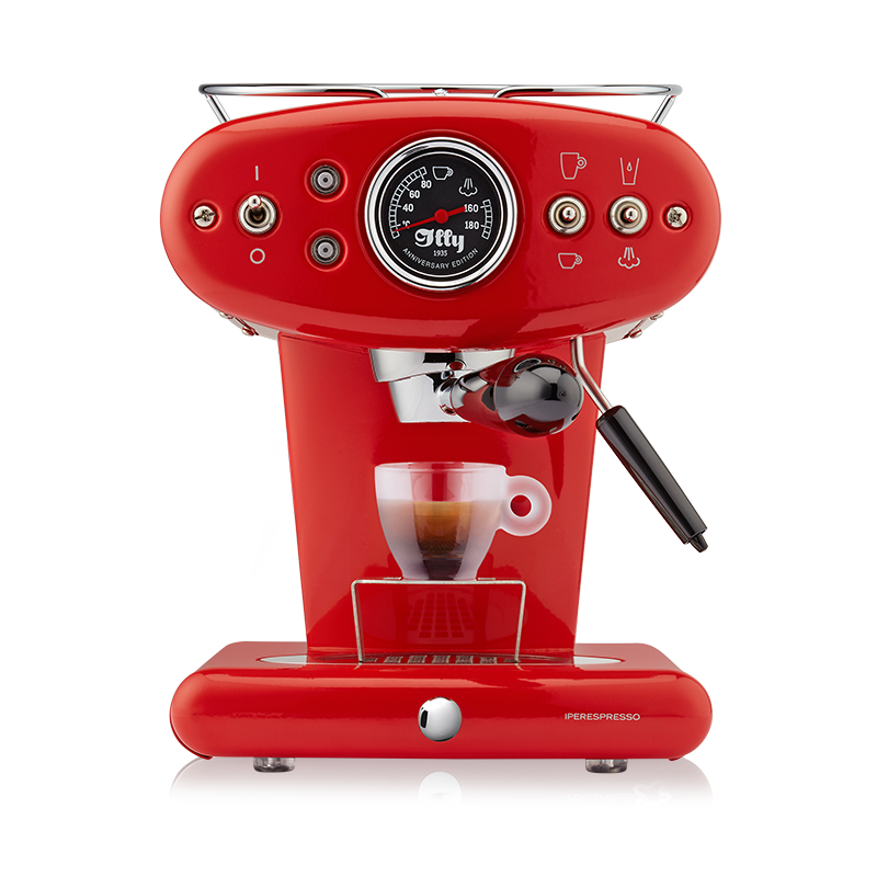 illy X1 iperEspresso Anniversary Machine - Espresso & Coffee - Red - Glass Espresso Cup