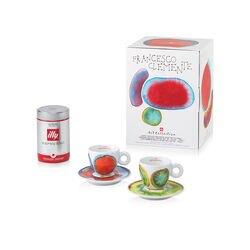 Francesco Clemente - 2 tazze da caffè cappuccino e 1 barattolo di caffè