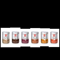 Kaffee-Probierpaket: Arabica-Bohnen in 6 verschiedenen Geschmacksrichtungen