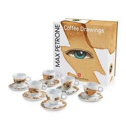 Max Petrone illy Art Collection Cappuccino Cup Set