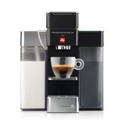 Francis Francis Y5 Milk Black Espresso Machine front view