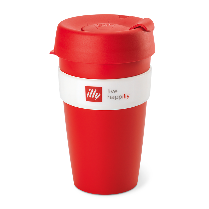 KeepCup Live Happilly Monochrome Red - Travel Coffee Cup