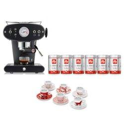 -10% Espressomaschine X1 Schwarz für gemahlenen Kaffee mit kostenlosem Startpaket