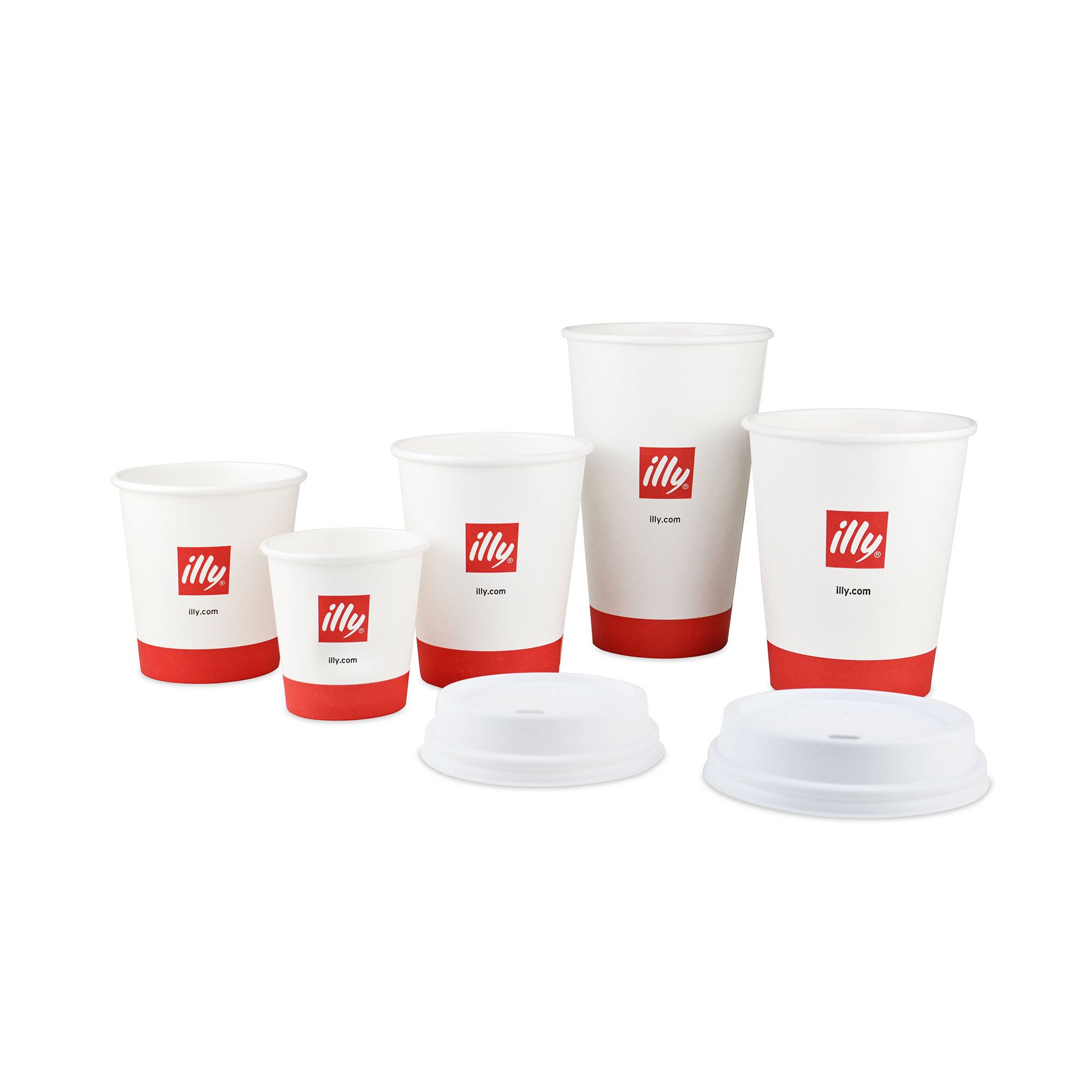 illy Logo Paper Cups - 8 oz.