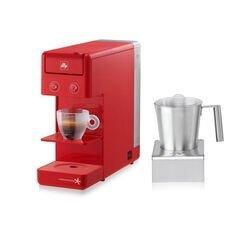 Montalatte elettrico illy e macchina da caffè iperespresso Y3