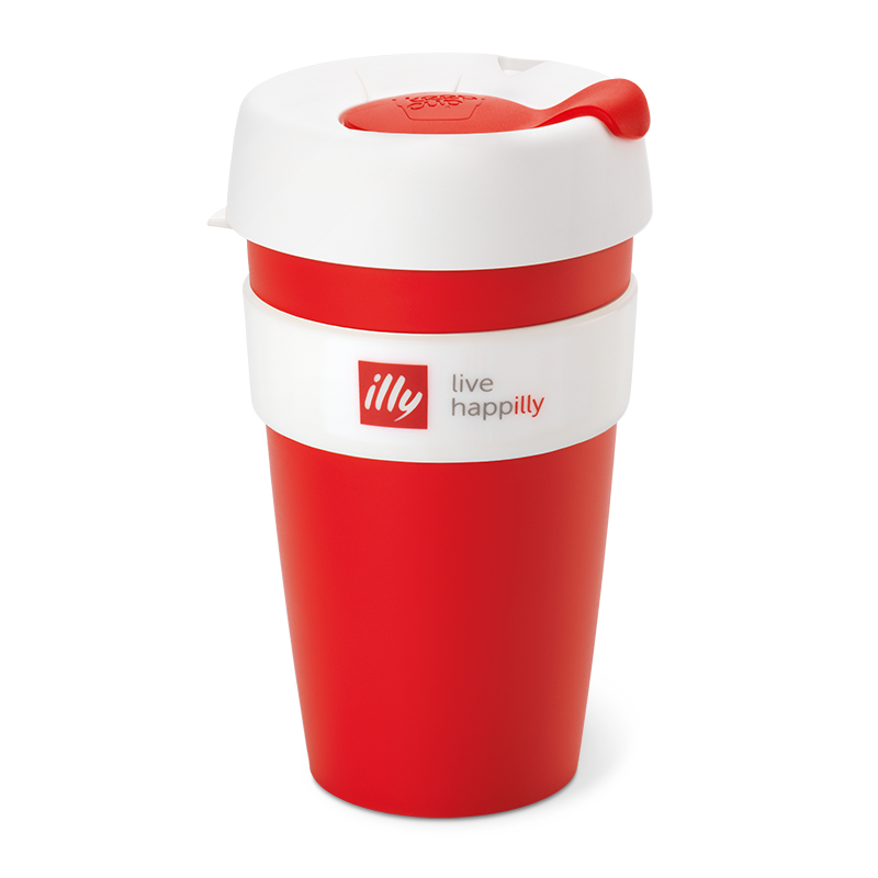 KeepCup Live Happilly Red & White - Travel Coffee Cup