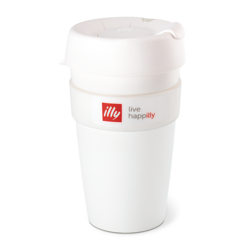 KeepCup Live Happilly Monochrome White - Travel Coffee Cup