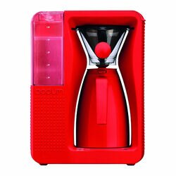 Bodum b.over Electric Coffee Brewer red front view