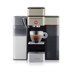 Francis Francis Y5 Milk Satin Espresso Coffee Machine front view