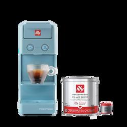 *COMBO* Máquina de Café illy Y3 Azul 120v + 1 lata de cápsula iperespresso