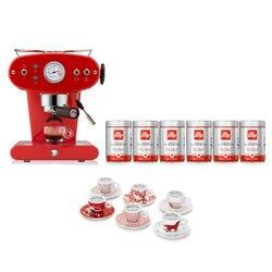 -10% Espressomaschine X1 Rot für gemahlenen Kaffee mit kostenlosem Startpaket