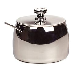Sugar Bowl with Spoon Front View